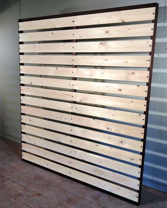 Metal frame slatted bed baseLUX VOLCANO