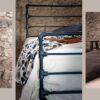Κρεβάτι βιομηχανικού στυλ