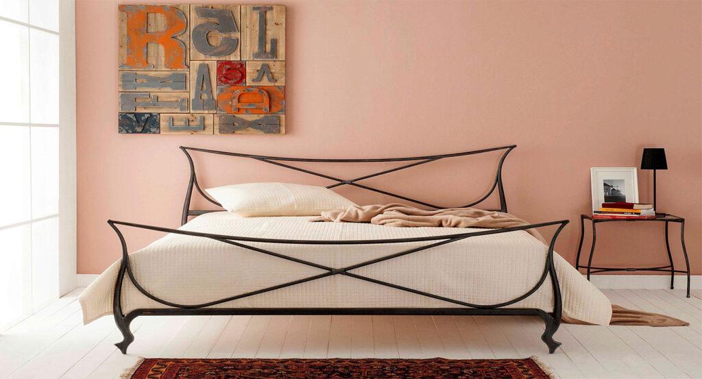 Metal bed frame king VENETIA 01