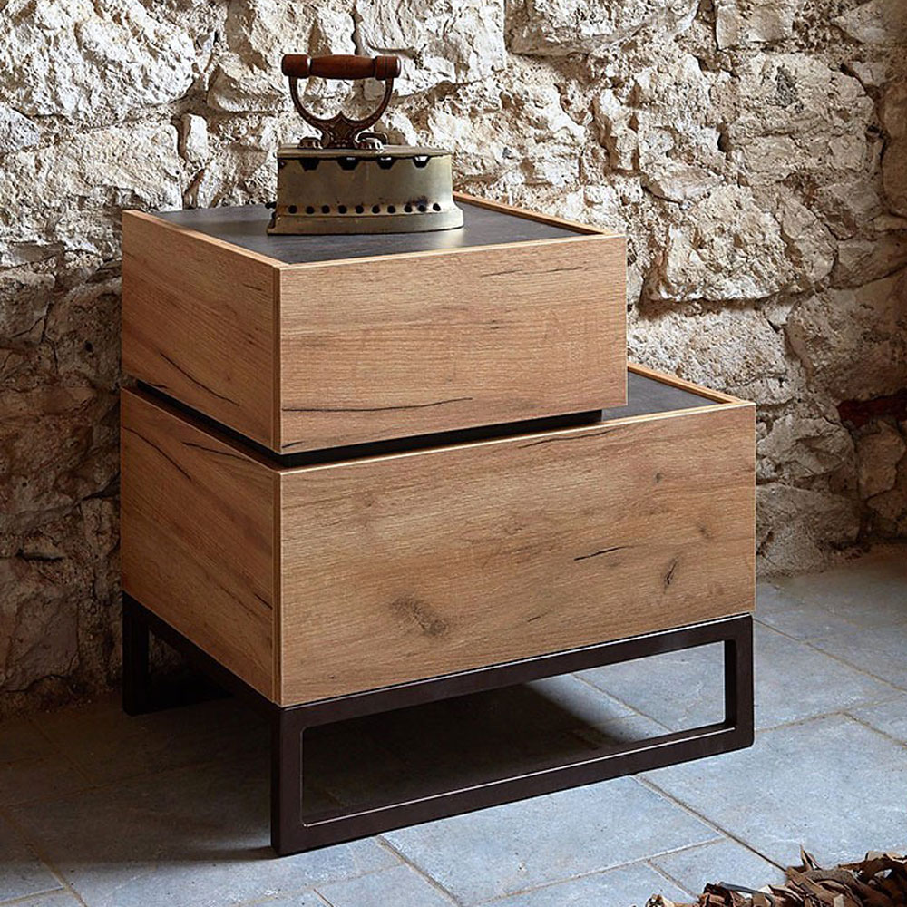 Industrial bedside table DIMITRA