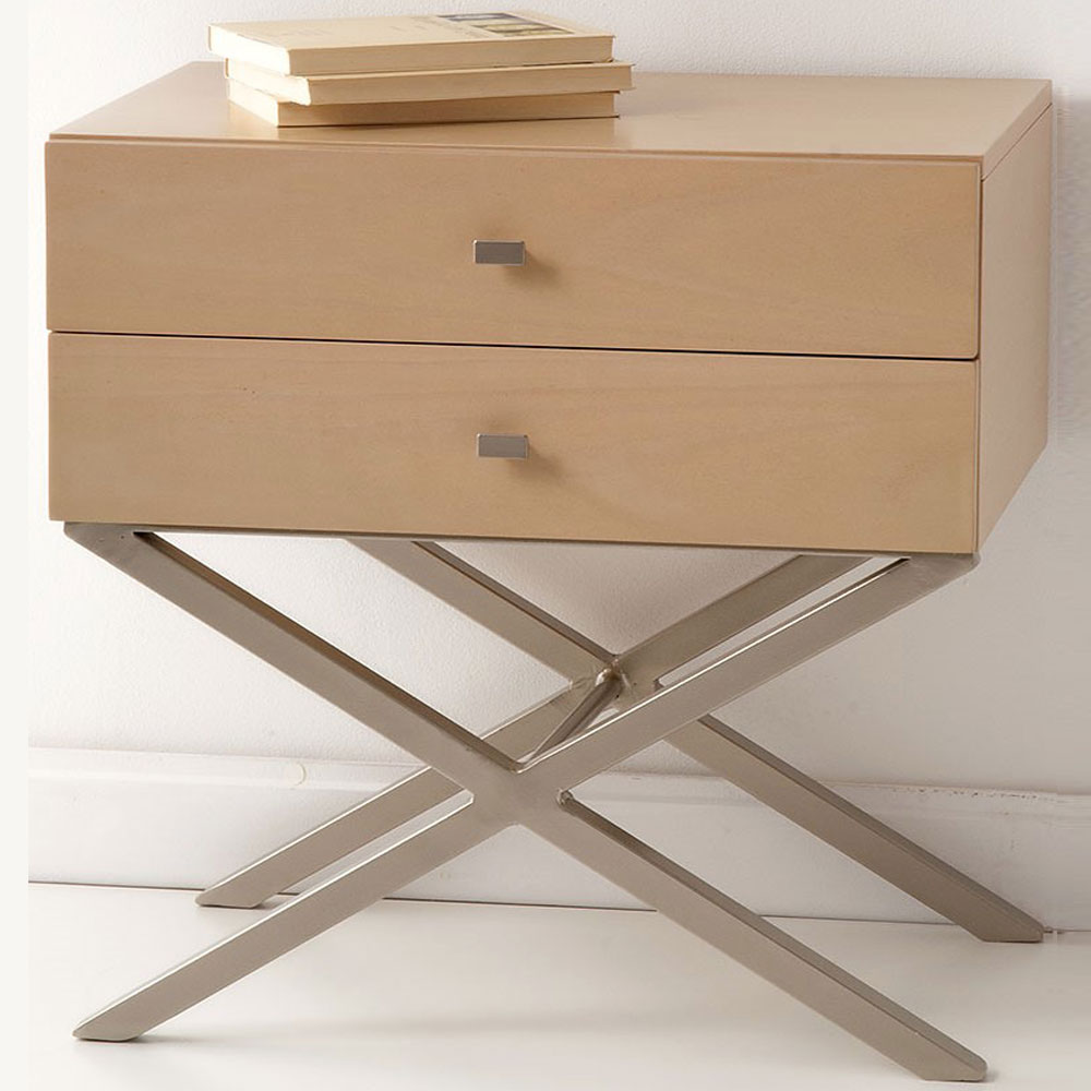 Wood and metal bedside table EX mod.02