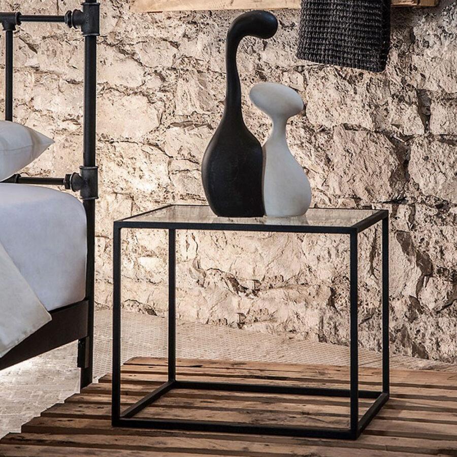 Wrought iron nightstand KIVOS