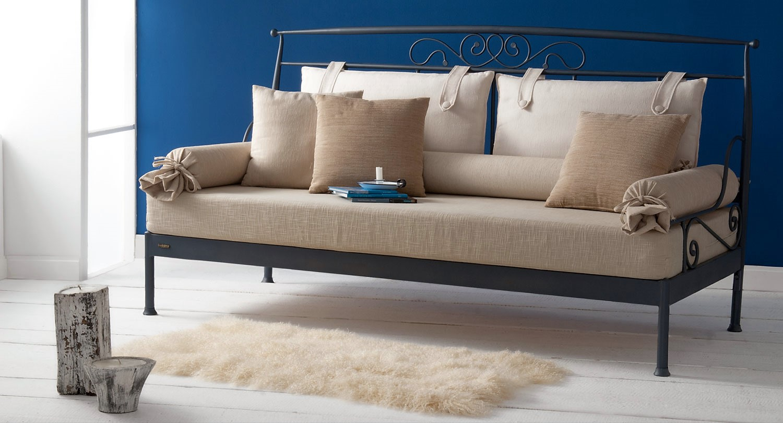 Καναπές κρεβάτι μεταλλικός LIA