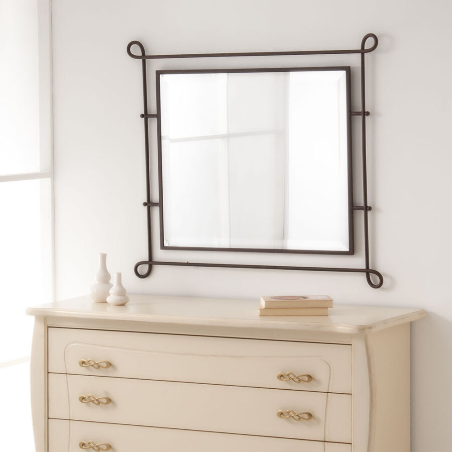 Metal frame mirror VOLCANO
