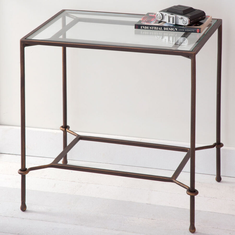 Glass bedside table PENELOPE Mod.02 01