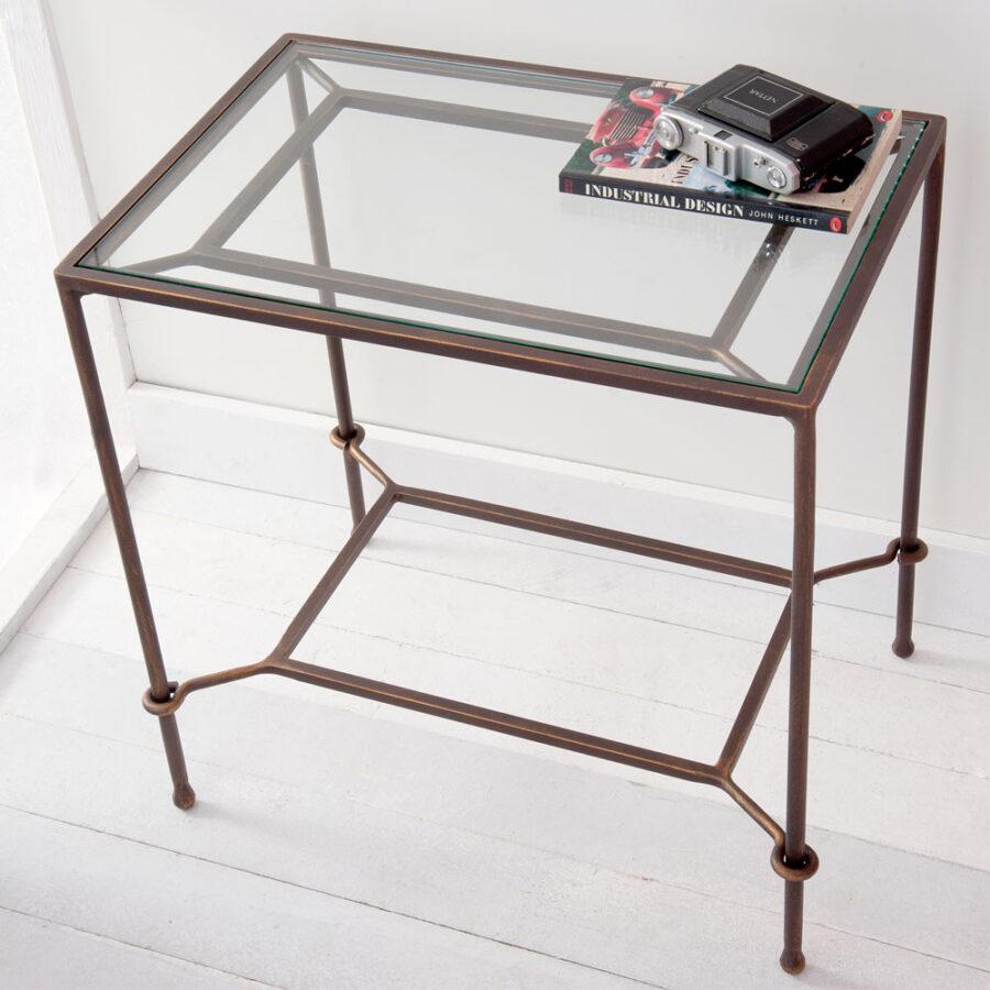 Glass bedside table PENELOPE Mod.02 -02