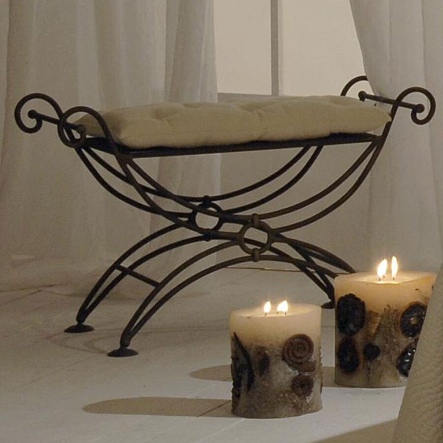 Small bed end stool SMALL VOLCANO