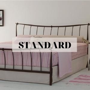standard metal bed