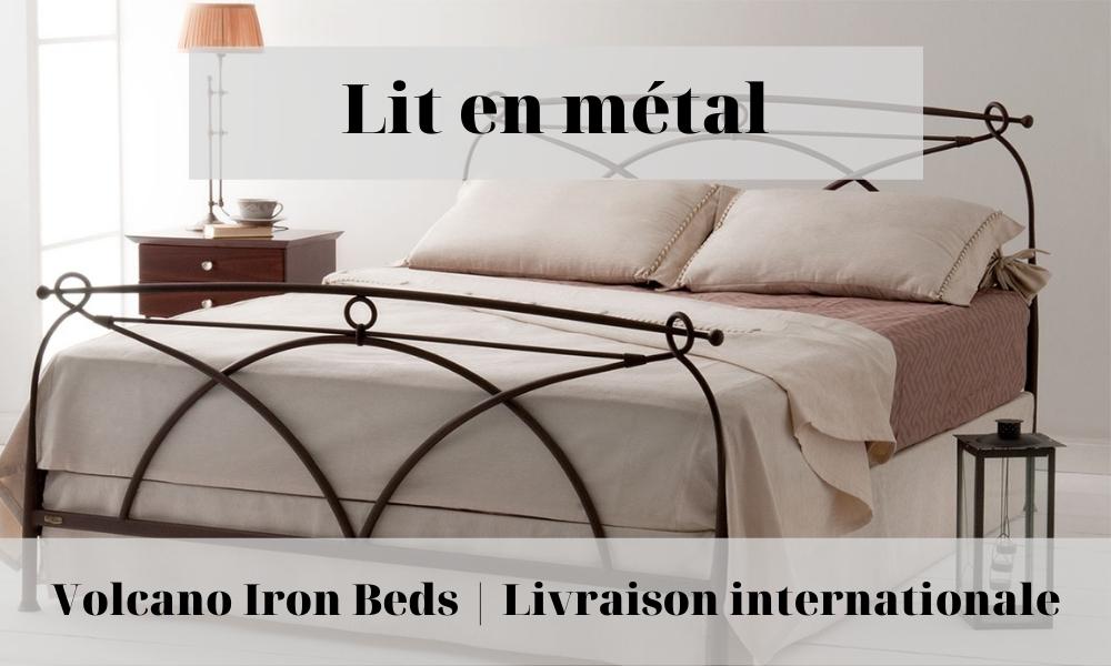 lit en métal