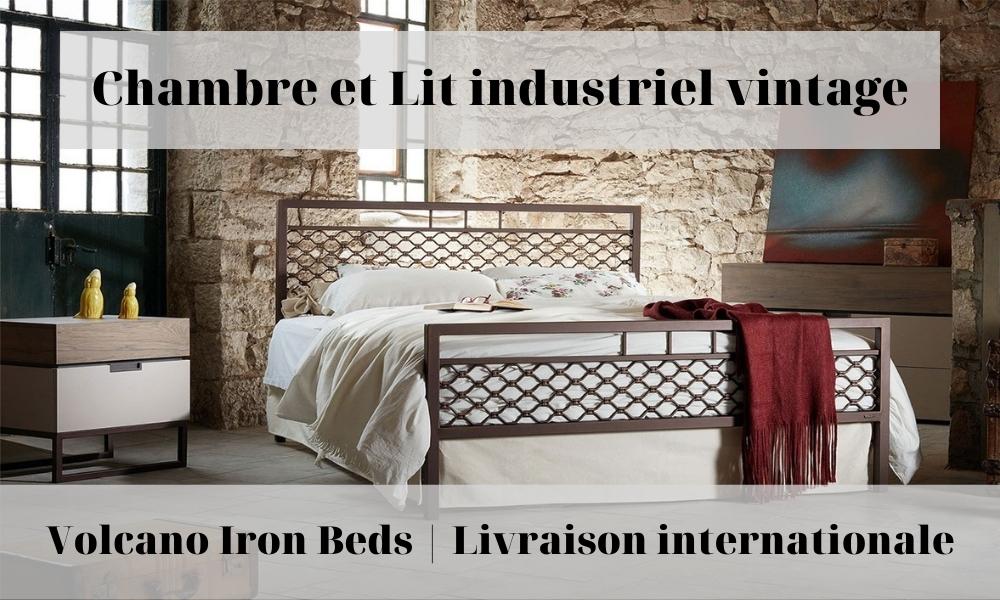 lit industriel vintage